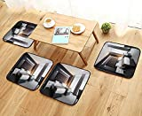 UHOO2018 Anti-Skid Chair Cushions Twin Room Interior Health is Convenient W19.5 x L19.5/4PCS Set