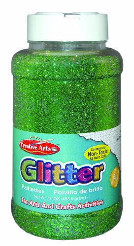 Creative Arts by Charles Leonard Glitter, 16 Ounce Bottle, Green (41125)