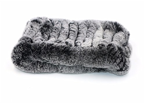 Headband Rex Rabbit Fur - ERaBLe(TM) Women Winter Cold weather Rex Rabbit Fur Knitted Headbands 4 colors (Grey)