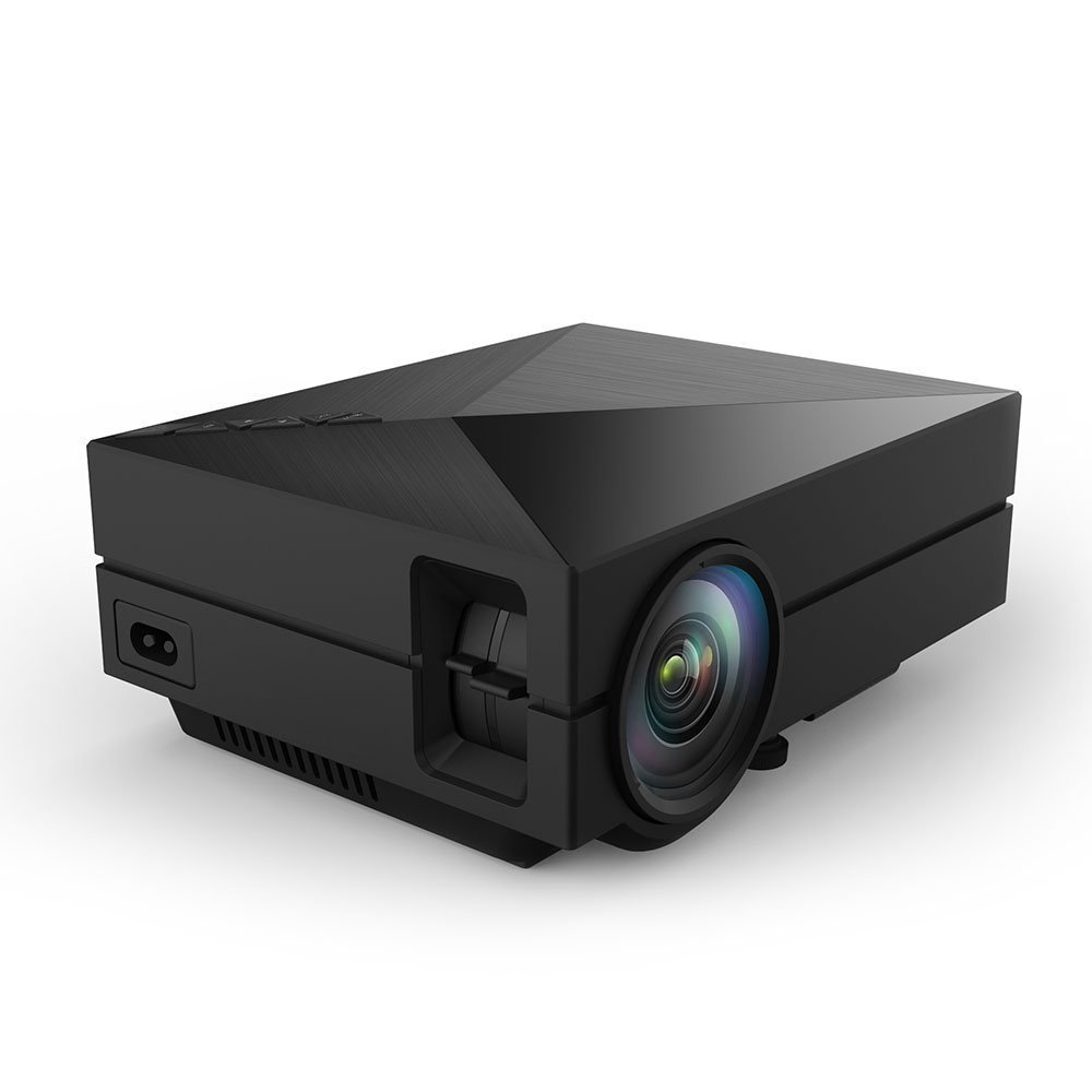 S1 LED LCD (WVGA) Mini Video Projector - International Version (No Warranty) - DIY Series - Black (FP8048S1-IV3)