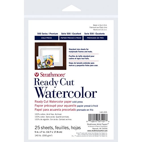 Strathmore 500 Series Ready Cut Watercolor Paper , 140 lb. Cold Press, 5