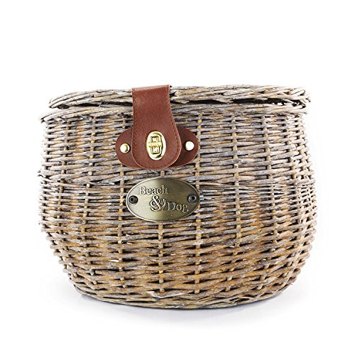 Creel Style Willow Bicycle Basket - Hand Crafted By Beach and Dog Co - (Barnegat Small) ()