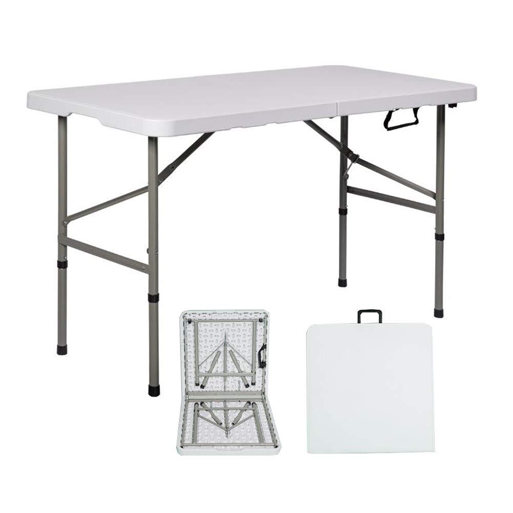 折りたたみテーブル ポータブル 鉄骨 ピクニック ガーデンテーブル ビーチテーブル アウトドア キャンプテーブル ハイキング ガーデンテーブル CJC (色 : 白) B07RTXZHW3 白