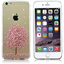iPhone 6s/6 Case,LoTus Cartoon TPU Bumper and Acrylic Hard Back Clear Floral Flower Cover for iPhone 6/6s 4.7inch[Slim Fit, Anti-Scratch and Anti-Shock Protection]-with Small Gifts-Cute Cherry Tree