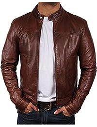 New York Genuine Leather Men Brown Jacket