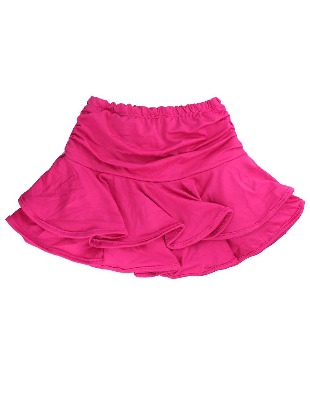 Daydance Girl's Dance Skirt Latin Ballroom Samba Tango Practice Dress with Boy Shorts 9 Colors by Daydance