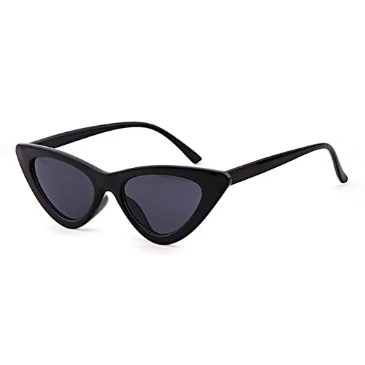 a4921b7a518d7 Vintage Cat Eye Sunglasses for Women Retro Clout Goggles Glasses Plastic Thick  Frame(Black
