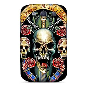 Scratch Protection Hard Cell-phone Cases For Samsung Galaxy S3 (pyV2877lxSP) Customized Realistic Guns N Roses Pattern