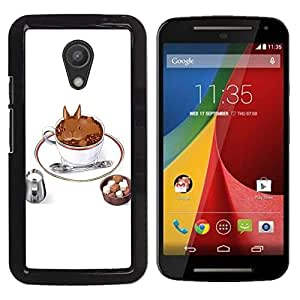Dragon Case - FOR Motorola G 2ND GEN II - Nobody might care - Caja protectora de pl??stico duro de la cubierta Dise?¡Ào Slim Fit