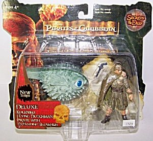 Pirates of the Caribbean - Secrets of The Deep - Deluxe Koleniko Flying Dutchman Pirate with Expanding Blowfish by (Pirates Of The Caribbean Dutchman)