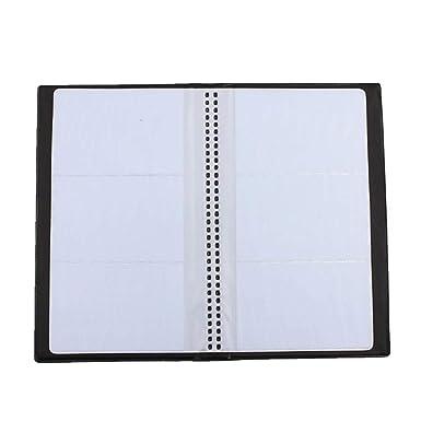 Amazon.com: Orcbee - Funda de piel negra con 120 tarjetas de ...