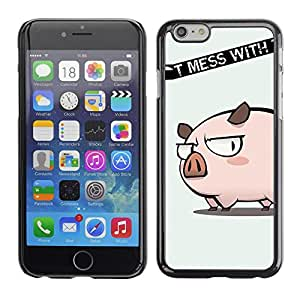 LECELL -- Funda protectora / Cubierta / Piel For Apple iPhone 6 -- Cute Don't Mess Pig --