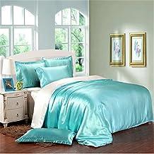 LOVE(TM)4Pieces/Set Imitate Silk Bedding Set Duvet Cover Pillowcases Imitate Silk Sheet Luxury Bedding,Queen
