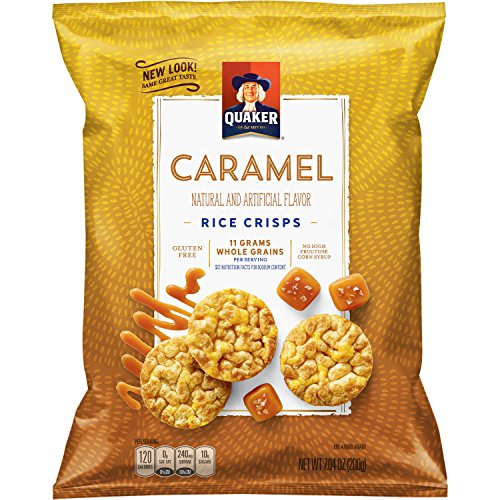 Quaker Rice Crisps, Caramel Corn, 7.04 oz Bag (Packaging May Vary) Caramel Crisp