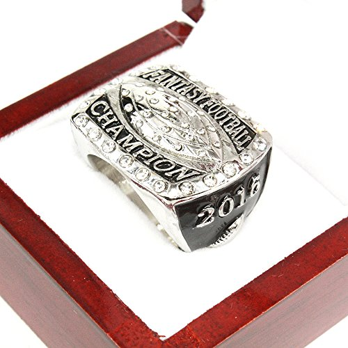 2016 FANTASY FOOTBALL GLORY CHAMPIONSHIP RING SOUVENIR WITH WOODEN BOX US SIZE 11