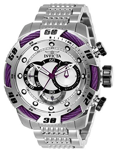 (Invicta Men's Speedway Quartz Chronograph Silver Dial Watch (Purple))