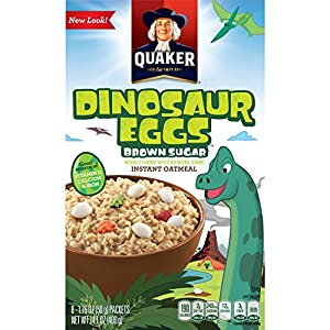 Quaker Instant Oatmeal, Dinosaur Eggs and Brown Sugar, Breakfast Cereal, 14.1 Ounce (Pack of 4)