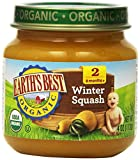 Earth's Best Organic Stage 2, Winter Squash, 4 Ounce Jar (Pack of 12)