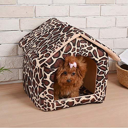 AntCompany Pet-Only Bella Abbastanza Bella Moda Confortevole Quattro Stagioni Disponibili Staccabili casa Modello Reticolo di Cuccia Gatto Domestico dedicato, Dimensioni  S, 27  32  32 cm Sicurezza