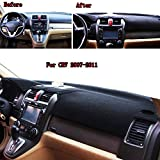 Buildent For Honda CRV CR-V 2007-2011 Car Dashboard Cover Dashboard Mat Dashmat Pad Dashboard Cover Anti-sunshine