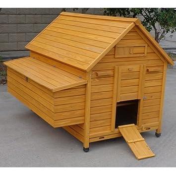 Gallinero de madera de tipo casa, modelo cocincina XXXL: Amazon.es: Jardín