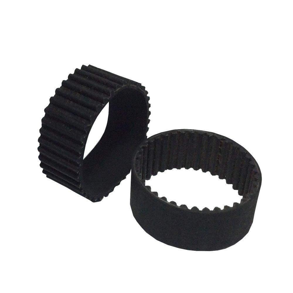 BEMONOC Pack of 2pcs HTD 3M Industrial Timing Belt 111mm Length 37 Teeth 15mm Width Small Rubber Belts for Stepper Motor
