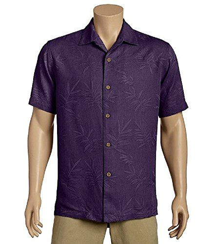Tommy Bahama Island Luau Silk Camp Shirt (Color: Blackberry Cordial, Size L)