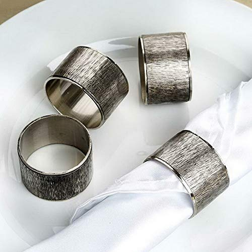 Mikash Copper Tone Ribbed Metal Napkin Rings Wedding Dinner Party Decorations Sale | Model WDDNGDCRTN - 17902 | 36 Pieces