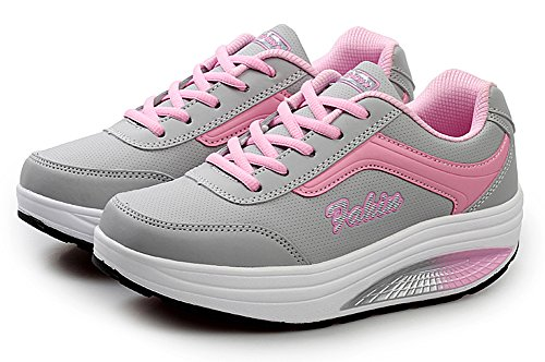 Fitness Platform Out Sneaker Pink Shoes Shoes Ups Shape Walking Ausom Wedges Toning Womens Work PwIBz