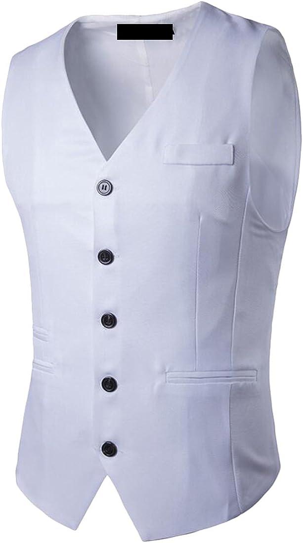 S-Fly Mens Business Sleeveless Suit Vest Jacket Waistcoat Tops