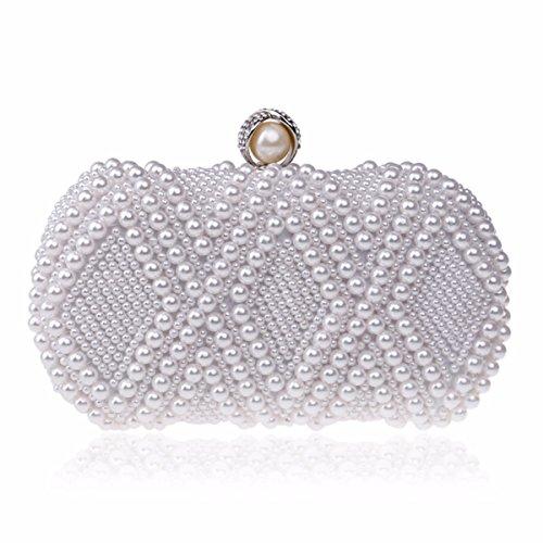 Robe Sac Lady White Fashion Nouveau Pearl Robe De Champagne Soirée Dîner Occident Couleur XJTNLB Sac Sac fBqS00