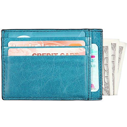 Banuce Business Card Holder Case Genuine Leather Slim Credit Card Wallet