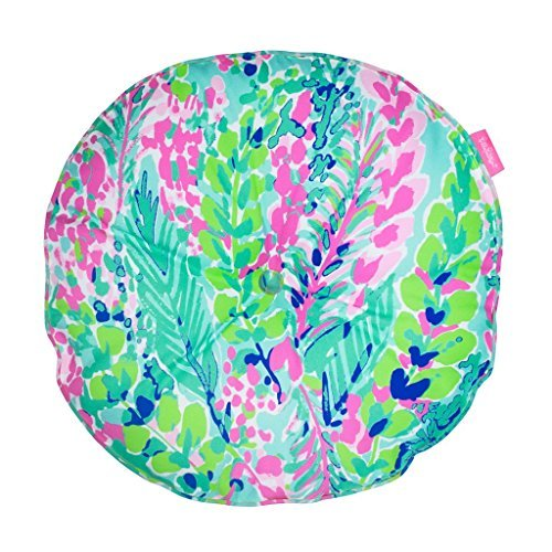 Lilly Pillow - Lilly Pulitzer Round Pillow - Catch The Wave