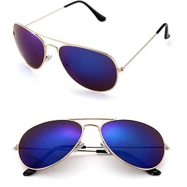 YANJING Gafas sol Gafas de sol piloto Hombres Mujeres ...
