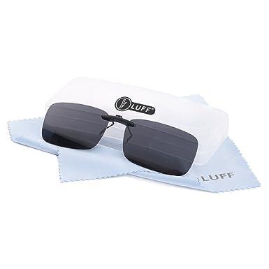 aa979814e08a40 Polarized Unisex Clip on Sunglasses for Prescription Eyeglasses-Good Clip  Style Sunglasses for Myopia Glasses
