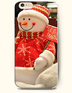 OOFIT Phone Case for iPhone 6 Plus 5.5 Inches with the Design of Snowman and Christmas Cap