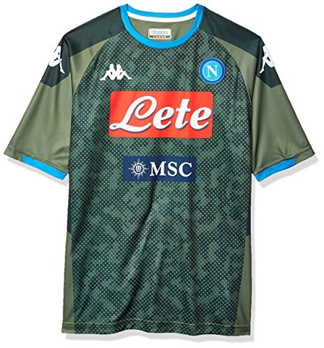 Napoli Away Shirt - Ssc Napoli Italian Serie A Men's Replica Away Match Shirt, Green, M