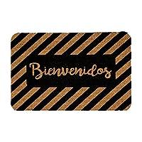Tapete de Entrada, Design Shape Bienvenidos Welcome 40X60 cm Decoración Hogar Rug Helio Hola Bienvenidos Welcome