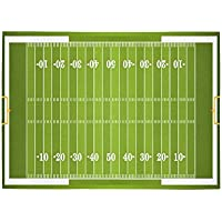 Custom Kids Sports Football Field Area Rug Floor Mat 7 x 5 Feet, American Football Field Chidrens Playtime Throw Rayon Fiber Carpet Rugs for Home Living Dining Room Decoration