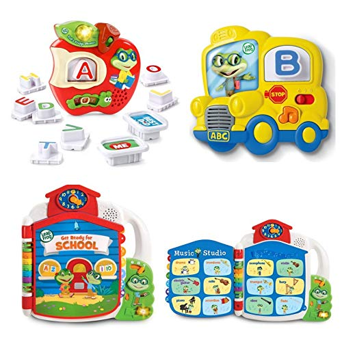 ics Magnetic Letter Set, Tad's Fridge Phonics and Tad's Get Ready for School Book, Alphabet Song, Letter Sounds, Workbook, Interactive, Early Development, Toddler, Preschool, Baby ()