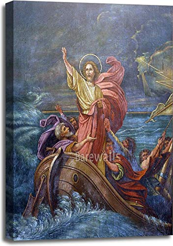Barewalls Jesus Calms A Storm On The Sea Gallery Wrapped Canvas Art (36in. x -