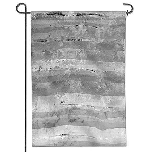 Cheap  SCOCICI1588 Flowers Welcome Garden Flag grunge striped and stained cracked aged concrete..
