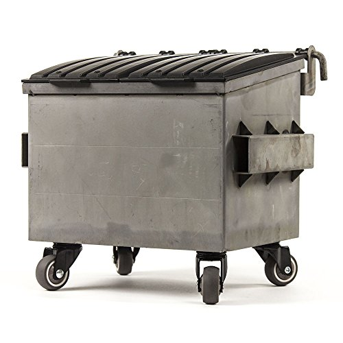 Dumpsty Raw Steel Desktop Dumpster by Dumpsty