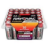 RAYOVAC AA 30-Pack FUSION Advanced Alkaline Batteries, 815-30PPFUSJ