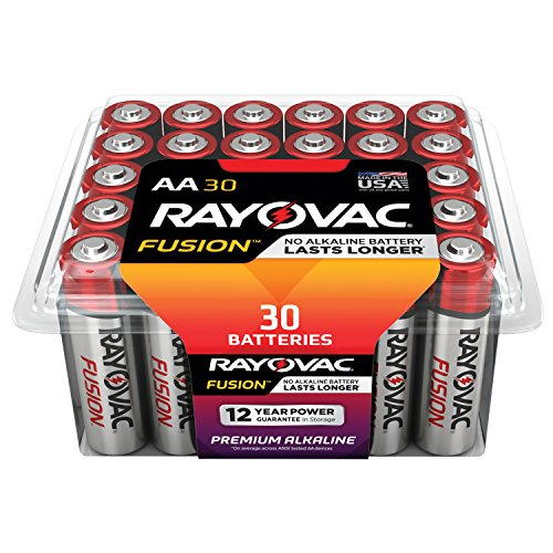 RAYOVAC AA 30-Pack FUSION Advanced Alkaline Batteries, 815-30PPFUSJ