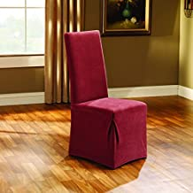 Sure Fit Stretch Pique - Dining Room Chair Slipcover  - Garnet (SF35575)