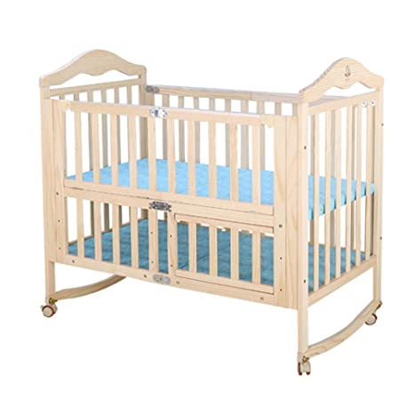Papay Crib Solid Wood Foldable Free Installation Without