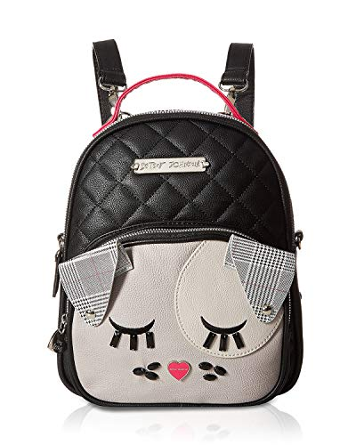 Betsey Johnson Diamond Quilt Kitch Backpack Black/Multi One Size