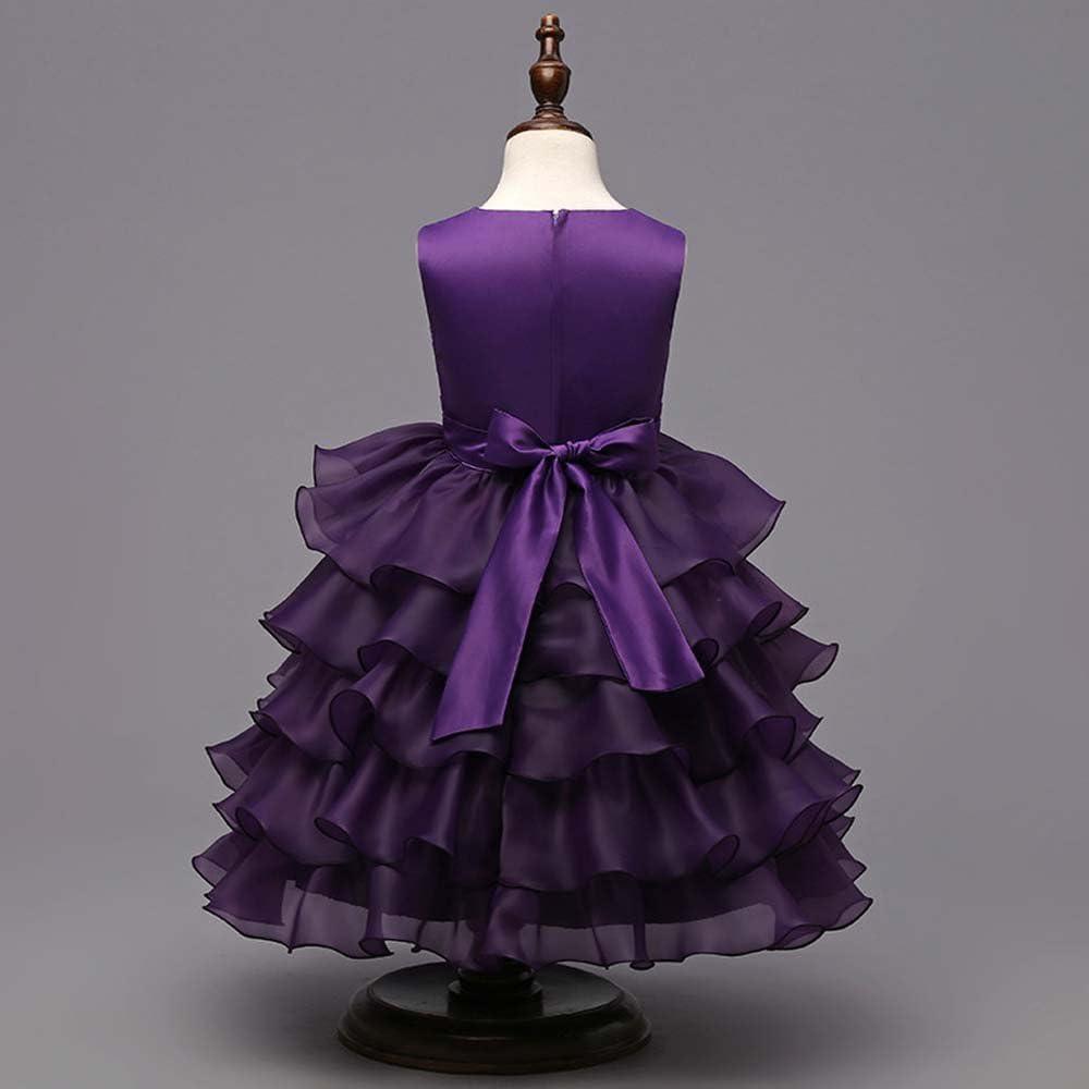 Vestido de fiesta estilo princesa con falda de vuelo para niña ...