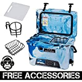 20QT CAMO OCEAN BLUE COLD BASTARD Rugged Series ICE CHEST COOLER Free Accessories YETI Quality Free S&H
